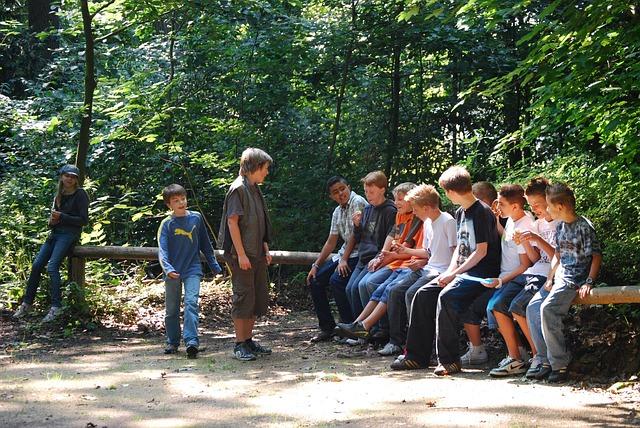Gruppe von Teenagern, Bild zum Meditationstext Innerer Teenager