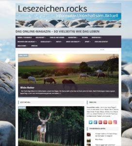 Screenshot Lesezeichen.rocks